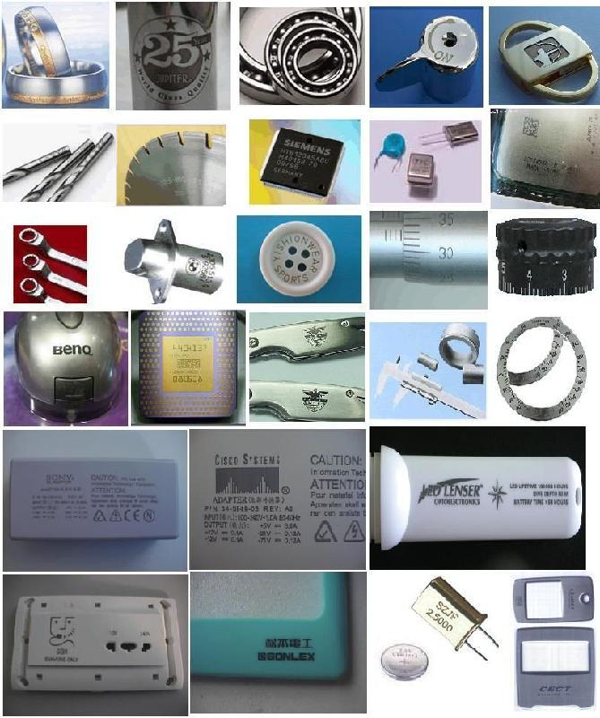 2D Code / Texts Laser Marking Device , Laser Engraving Machine For Aluminium