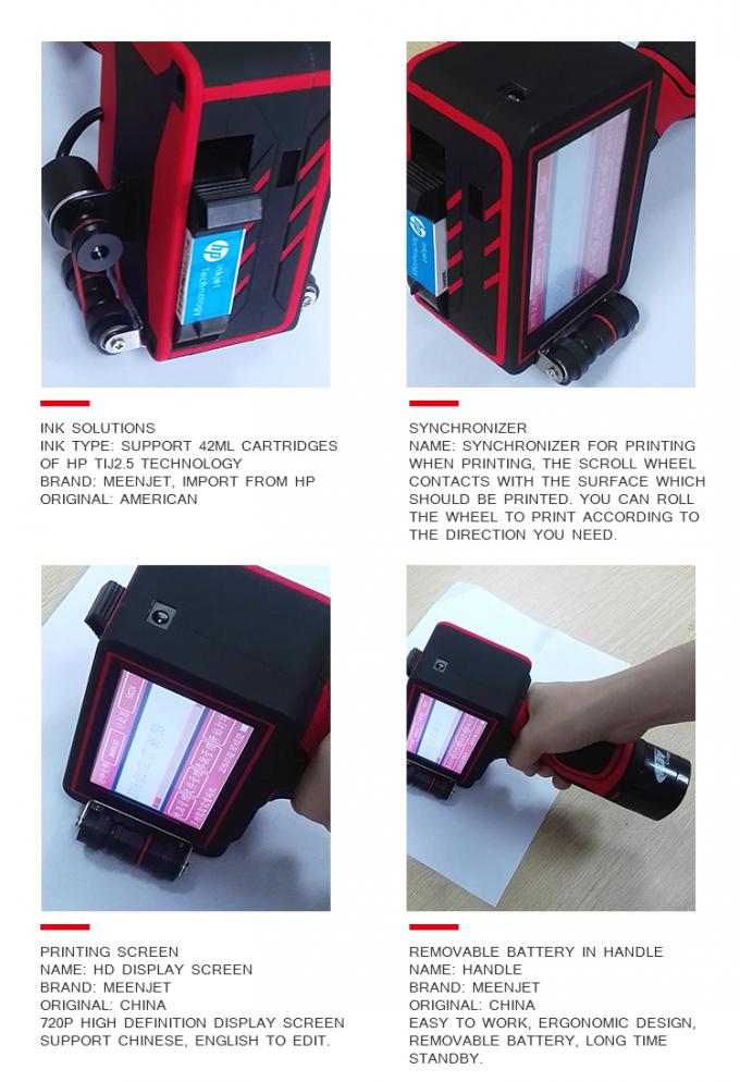 easy operating free maintenance fast dry portable ink jet printer mobile