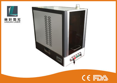 China Small Size 20w Fiber Laser Engraving Machine 7000 MM/S Marking Speed For Gold / Silver supplier