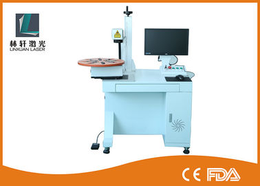 China Mini Fiber Laser Marking Machine 1064 nm Wavelength For Stainless Steel / Plastic supplier