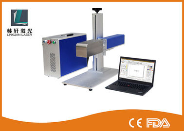 China Mini 3D 30w Fiber Laser Marking Machine Portable Laser Etching Machine On Aluminum Copper supplier