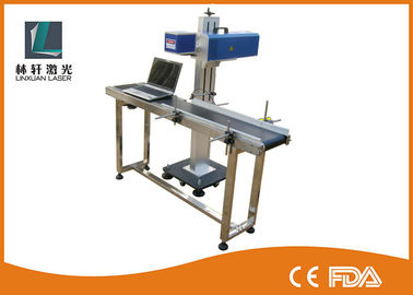 China Light Weight Small Laser Engraving Machine , CO2 Flying Laser Marking Machine supplier