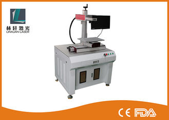 China CNC Name Plate Fiber Desktop Laser Marking Machine For 2D Barcode Qrcode supplier