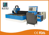 China 500w 800w Metal Fiber Laser Cutting Machine Double Driving For Steel Sheet factory