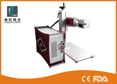 China MOPA 20w Fiber Laser Marking Machine Air Cooling For Plastic / Rubber / ABS factory