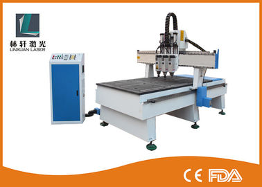 China 2 Heads CNC Router Machine 1300 * 2500 * 200mm Working Area For MDF / Acrylic / Stone factory