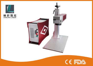 China IPG / Raycus Mini Fiber Laser Marking Machine Used In Deep Engraving Etching Air Cooling factory