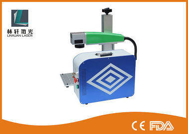 China Logo Mark IPG Small Metal 20w Fiber Laser Marking Machine Fast Speed factory